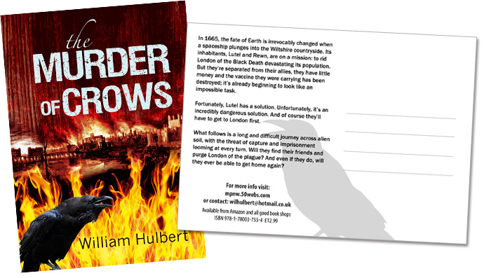 Postcard design to promote your book