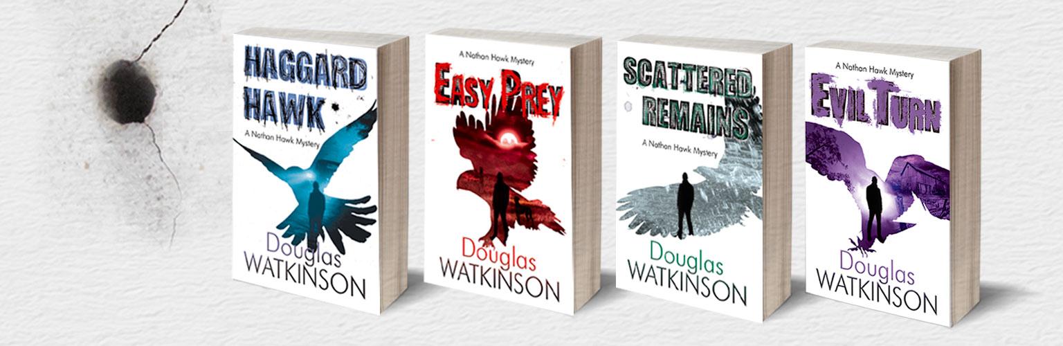 Book brand design for crime novel
