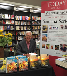 Ray Harwood at a book signing at Waterstone's Bookshop